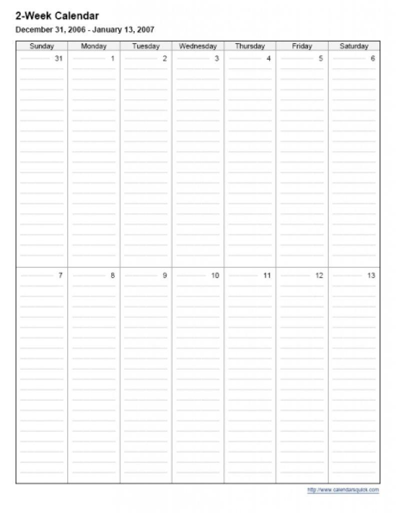 2 Week Calendar Printable :-Free Calendar Template Free Printable Calendar 2 Week