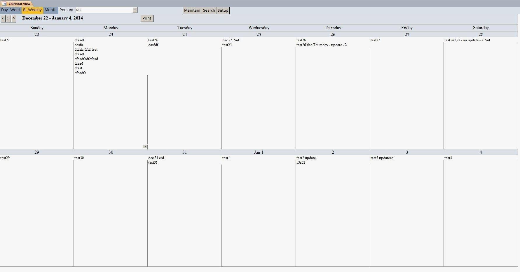2 Week Calendar Template Printable | Free Calendar Blank 2 Week Schedule Template