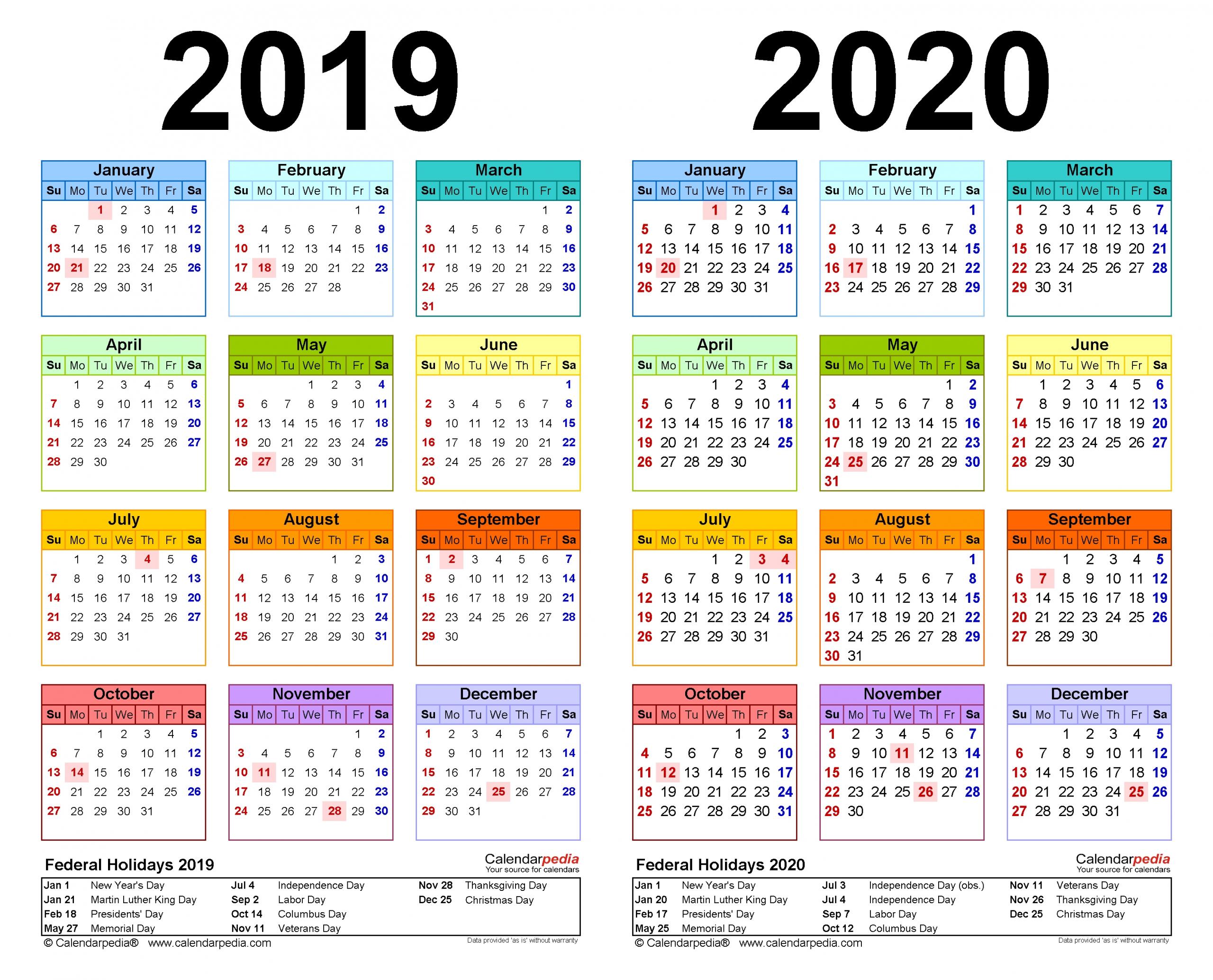 2 Year Calendar View | Month Calendar Printable Multiple Year Printable Calendar