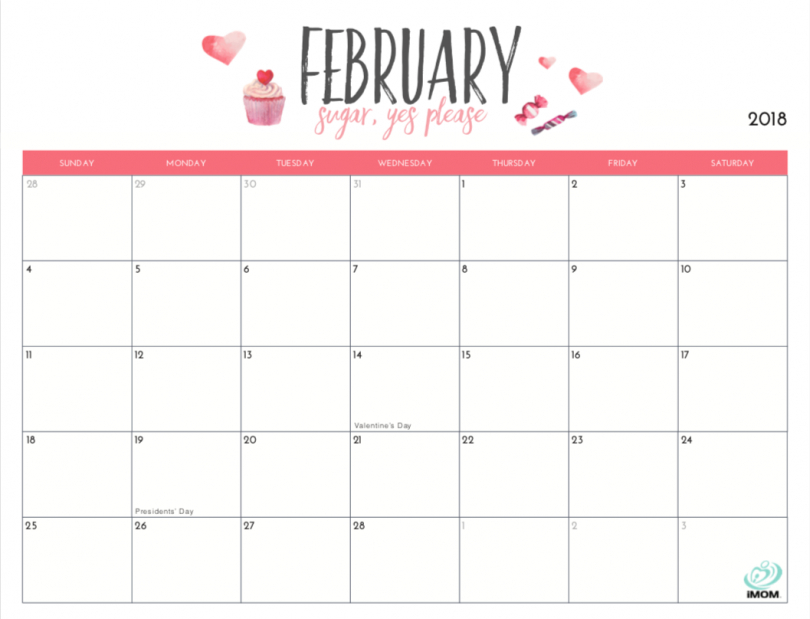 20 Free Printable Calendars For 2019 - Yesmissy 8X5 Monthly Calendar Print Outs