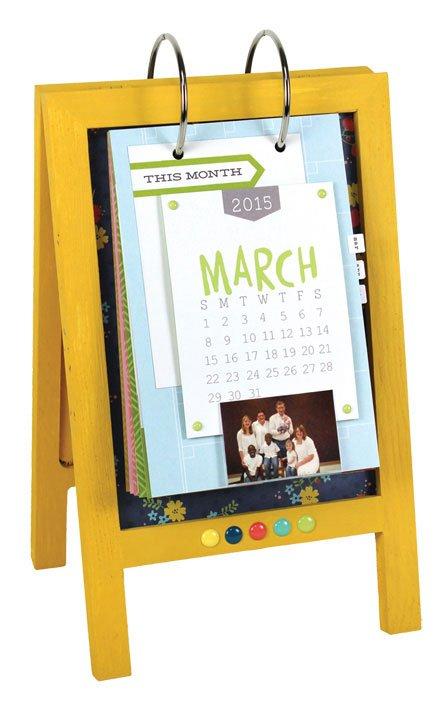 2015 Calendar Easel | Crafts Direct 3 Month Wooden Calendar Frame