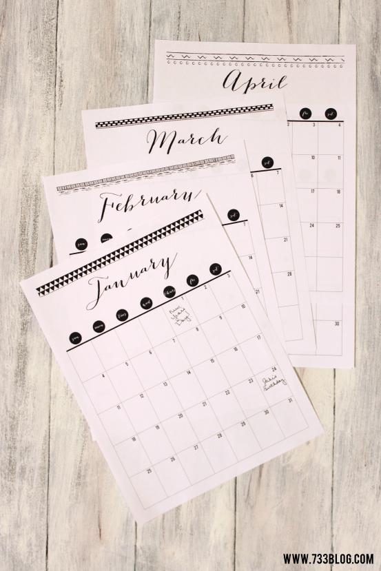 2016 Printable Calendar - Inspiration Made Simple Printable 2016 Calendar With Notes