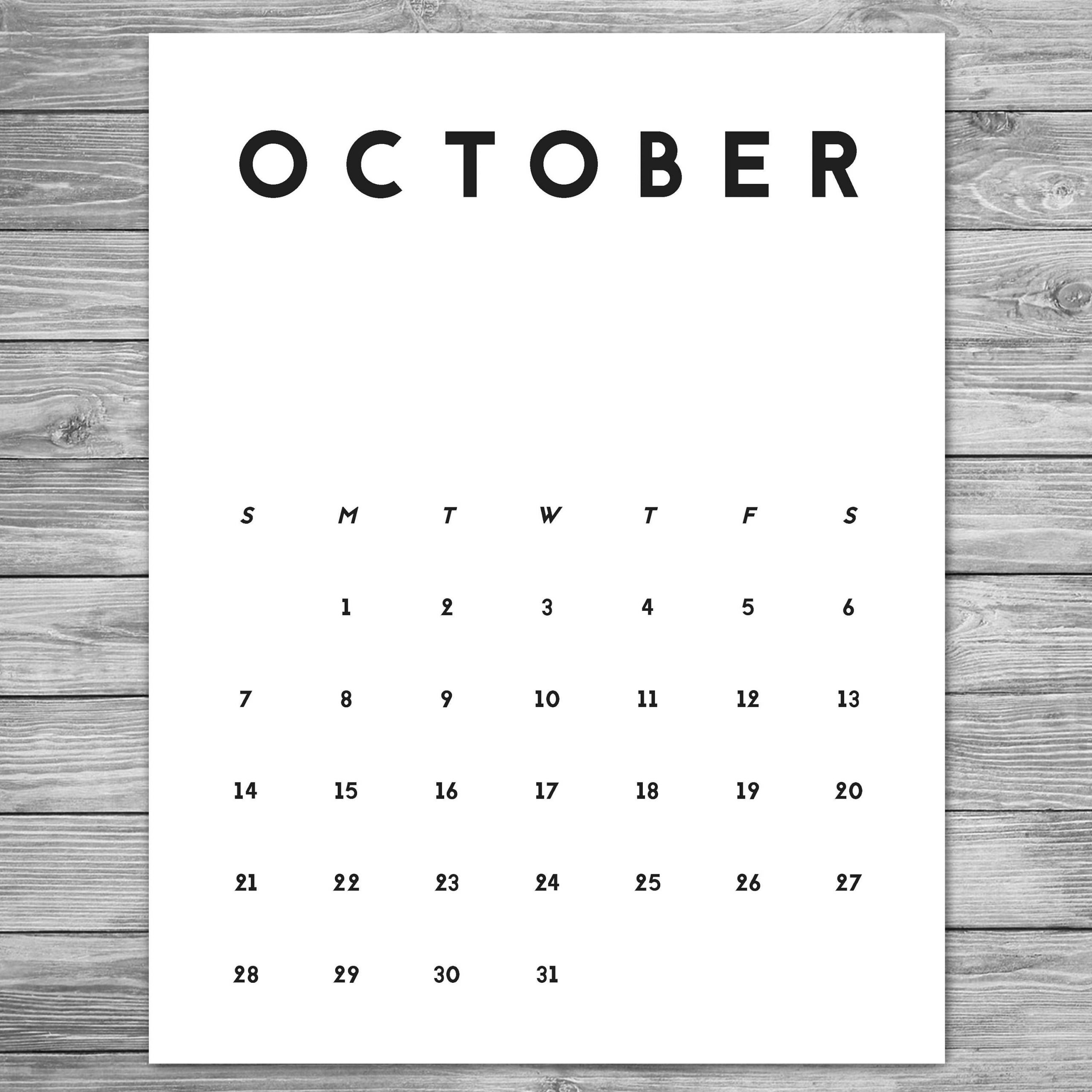 2018 2019 Printable Minimalist Monthly Calendar, A4, 8.5 X Free Printable 8 X 11 May Calendar