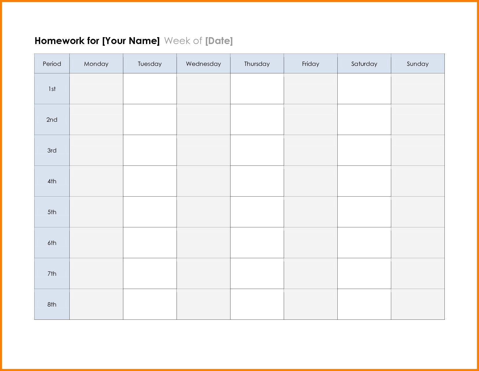 2018 Calendar Printable Planner Template Excel Word Pdf Create A Two Week Calendar