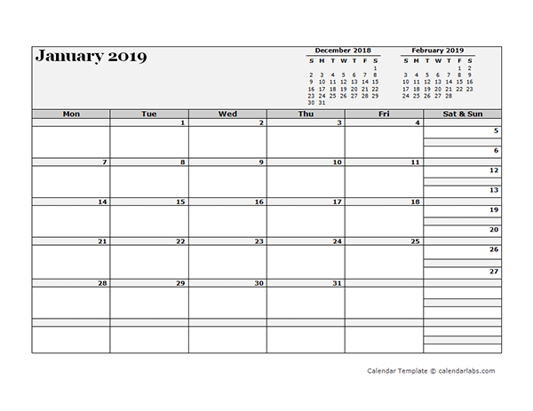 2019 Blank Three Month Calendar - Free Printable Templates Free Printable Calendars By 3 Months