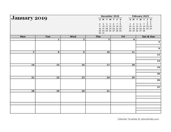 2019 Blank Three Month Calendar - Free Printable Templates Printable 3 Month Calendar