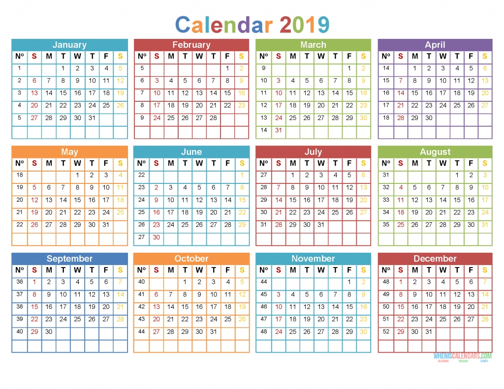 2020 12 Month Monday To Sunday Calendar Template Updateable 12 Month Calendar - Free