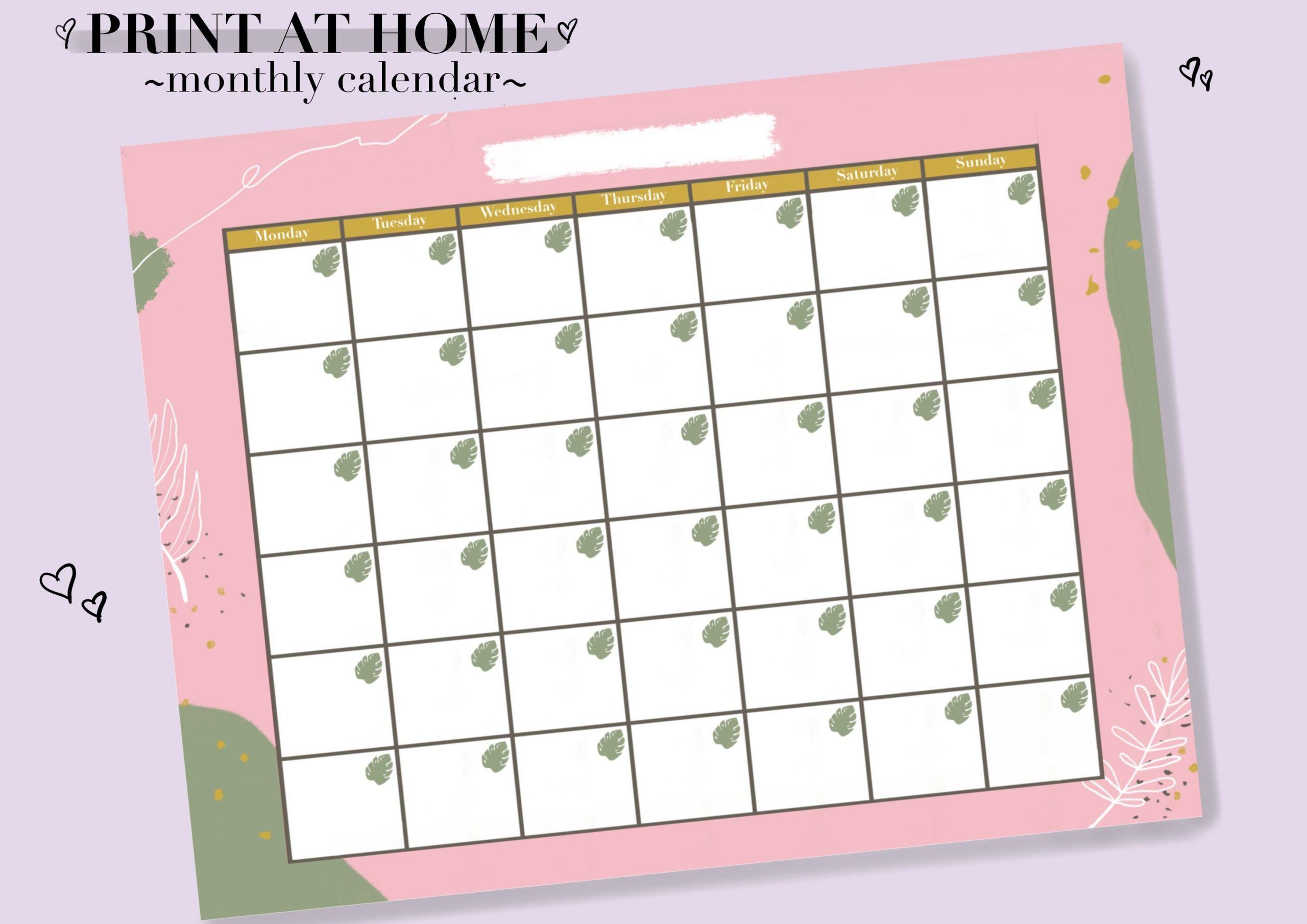 2020/2021 Monthly Calendar Digital Download Pdf, Printable 11 X 17 April Calendar