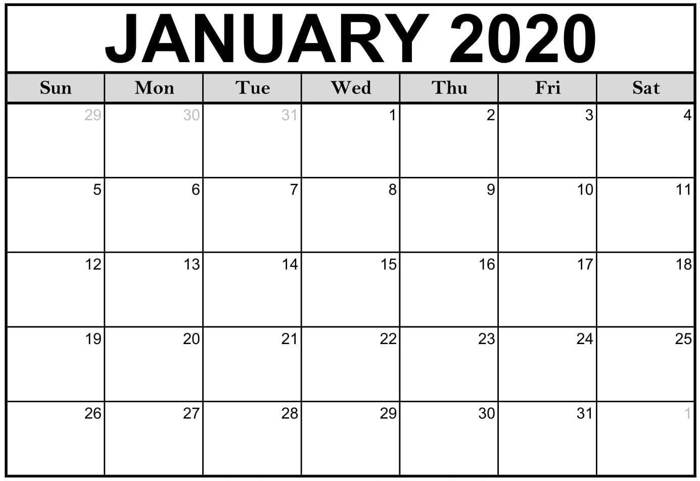 2020 Calendar Fillable | Free Printable Calendar Free Calendars That I Can Edit And Print