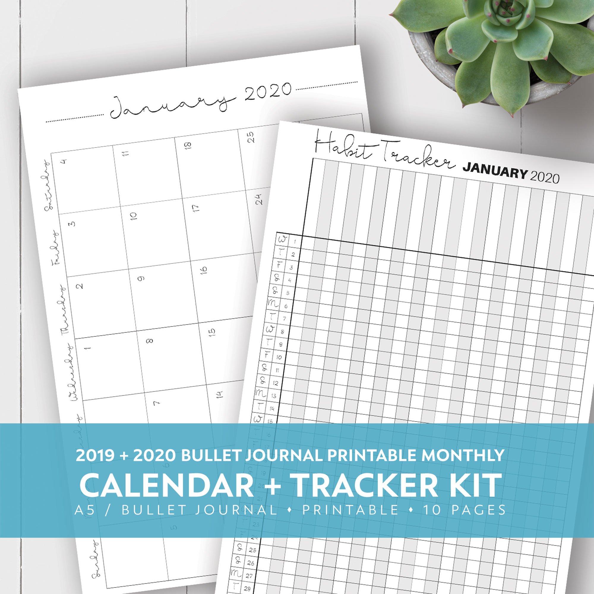2020 Calendar For 5.5 X 8.5 | Calendar Template Printable 8.5 X 5.5 Calendar Printable