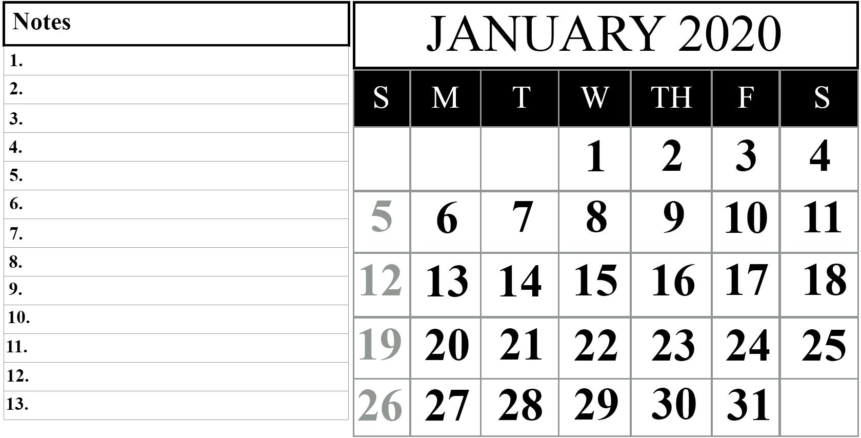 2020 Calendar I Can Edit | Calendar Template Printable Free Printable Calendar That I Can Edit