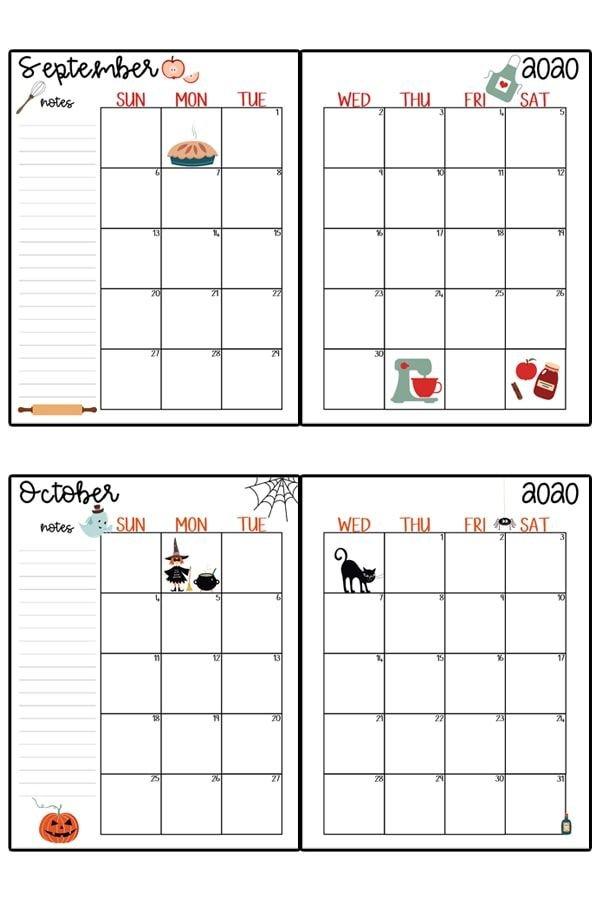 2020 Calendar Printable - Free Printable 2020 Monthly Free Printable Hp Calender
