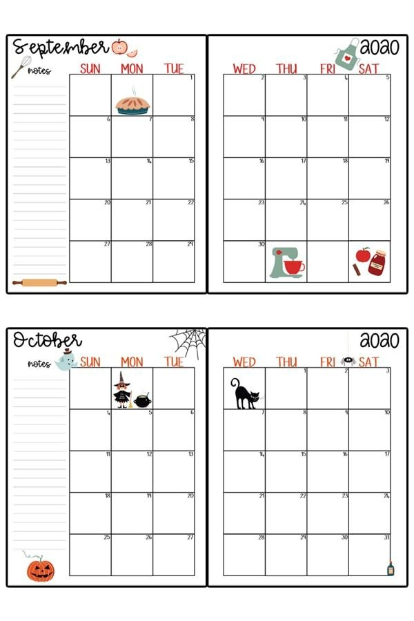2020 Calendar Printable - Free Printable 2020 Monthly Hp Free Calendars To Print