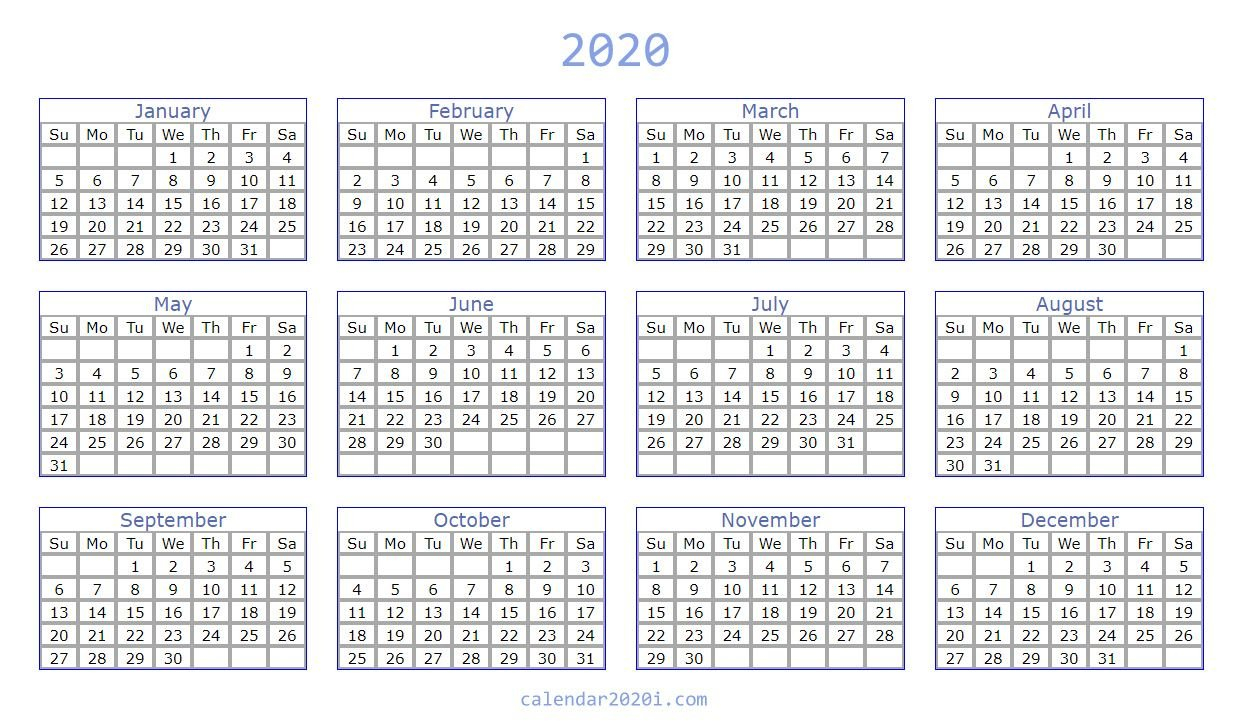 2020 Calendar You Can Edit | Calendar Printables Free Free Printable Calendar That I Can Edit