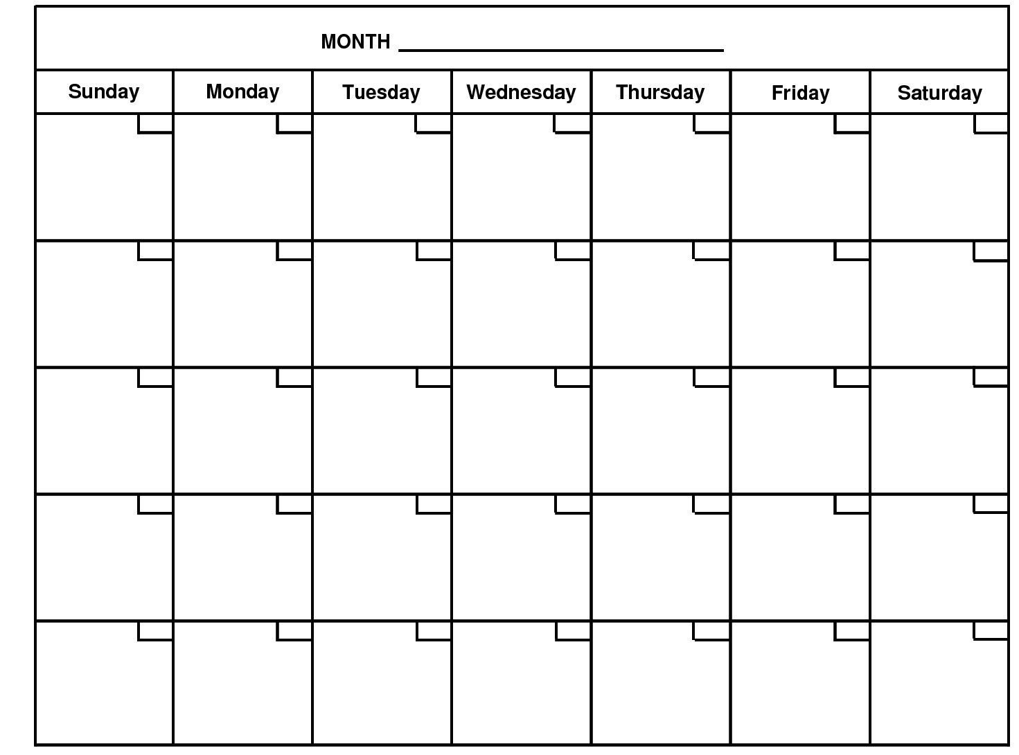 2020 Monthly Calendar Template Word - Google Search | Free 5 Ay Free Calendar