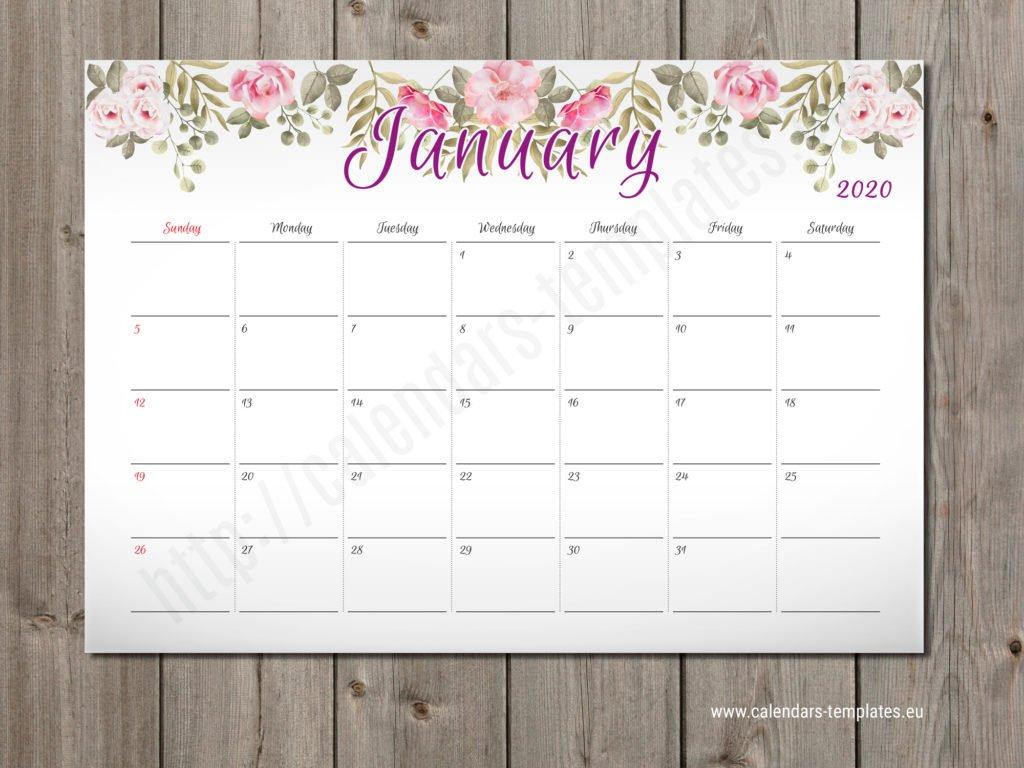 2020 Monthly Planner Pm-W2 - Calendar Template 2 Week Calendar Editable