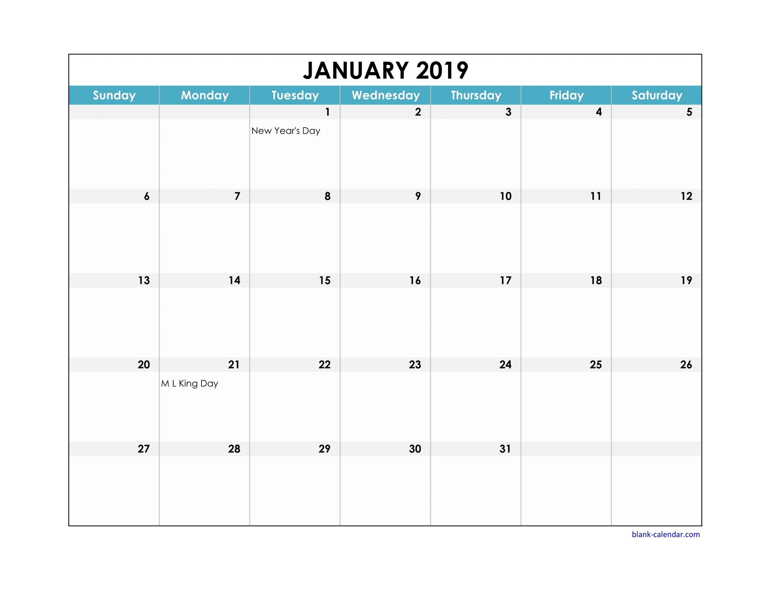 2020 Printable Calendar With Large Squares   Calendar Large Square Calendar Template