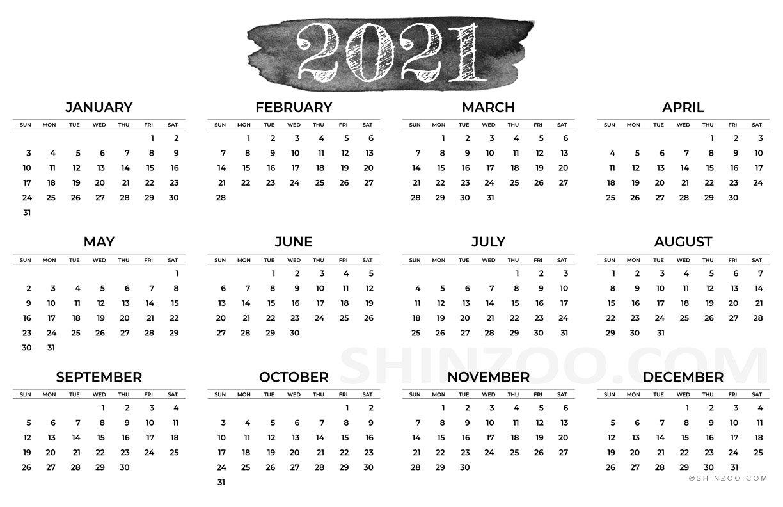 2021 Calendar Printable 11X17 Planner Template Free Printable 8 1/2 X 11 Calendar