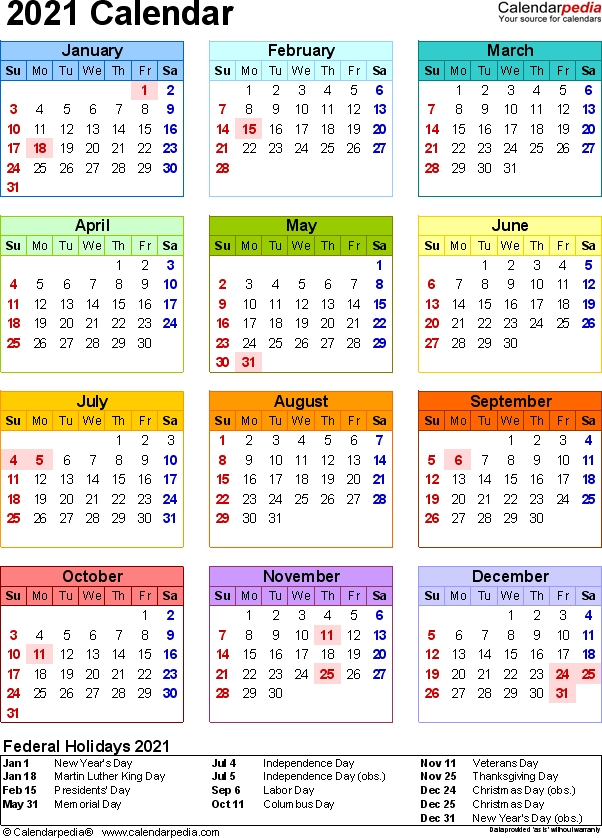 2021 Calendar With Week Numbers Free 365 Days | Calvert Giving Calendars With 365 Numbbering