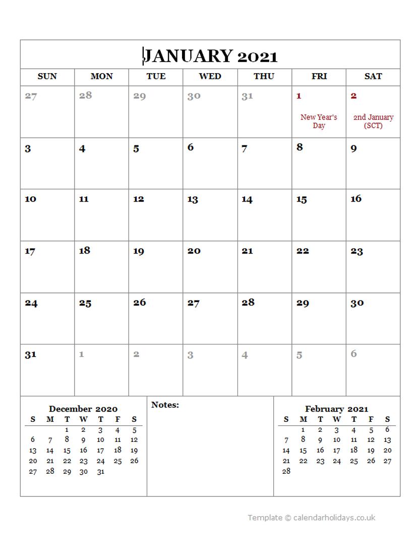 2021 Monthly Template - Calendarholidays.co.uk Three Months Calendar Free