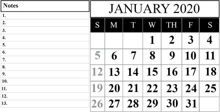 21+ Fillable January Calendar 2020 Printable Template Free Weekly Calendar Fillable With Times Starting At 6Am