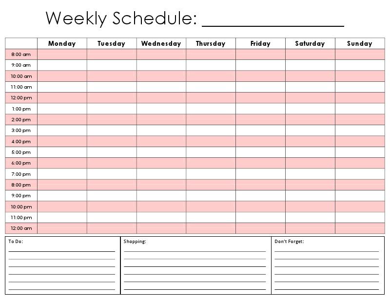 24 Hour Calendar Printable - Calendar Template 2020 8 Week Calendar Pdf