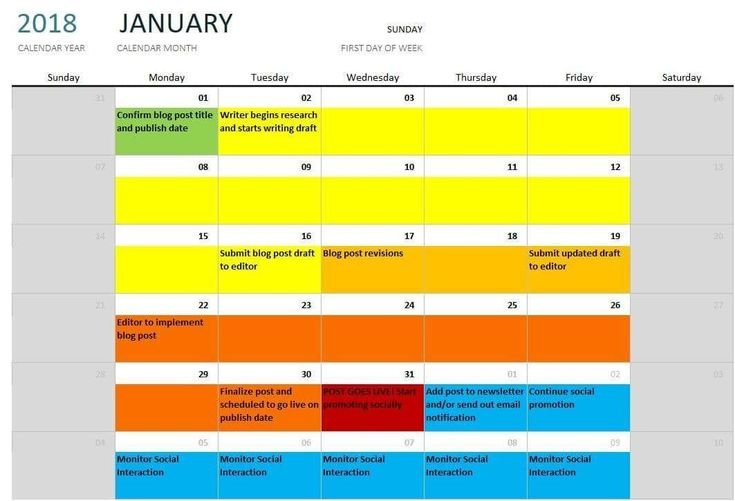 25 Color Coded Calendar Template In 2020 (With Images Color Coded Schedule Template