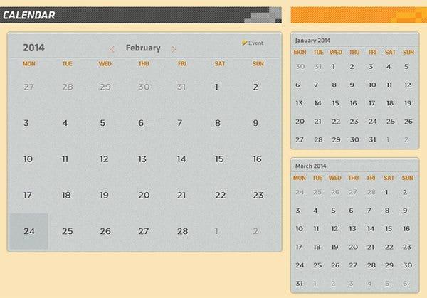 26+ Html Calendar Templates - Html, Psd, Css | Free Free Interactive Calendar Templates