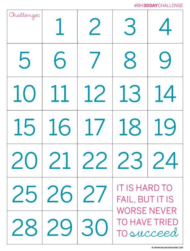 30 Day Calendar Printable - Calendar Template 2020 Blank 30-Day Calender Printable
