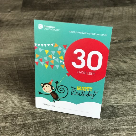 30-Day Countdown To Birthday | Day Countdown, Countdown 30 Day Retirement Countdown Coloring Calendar