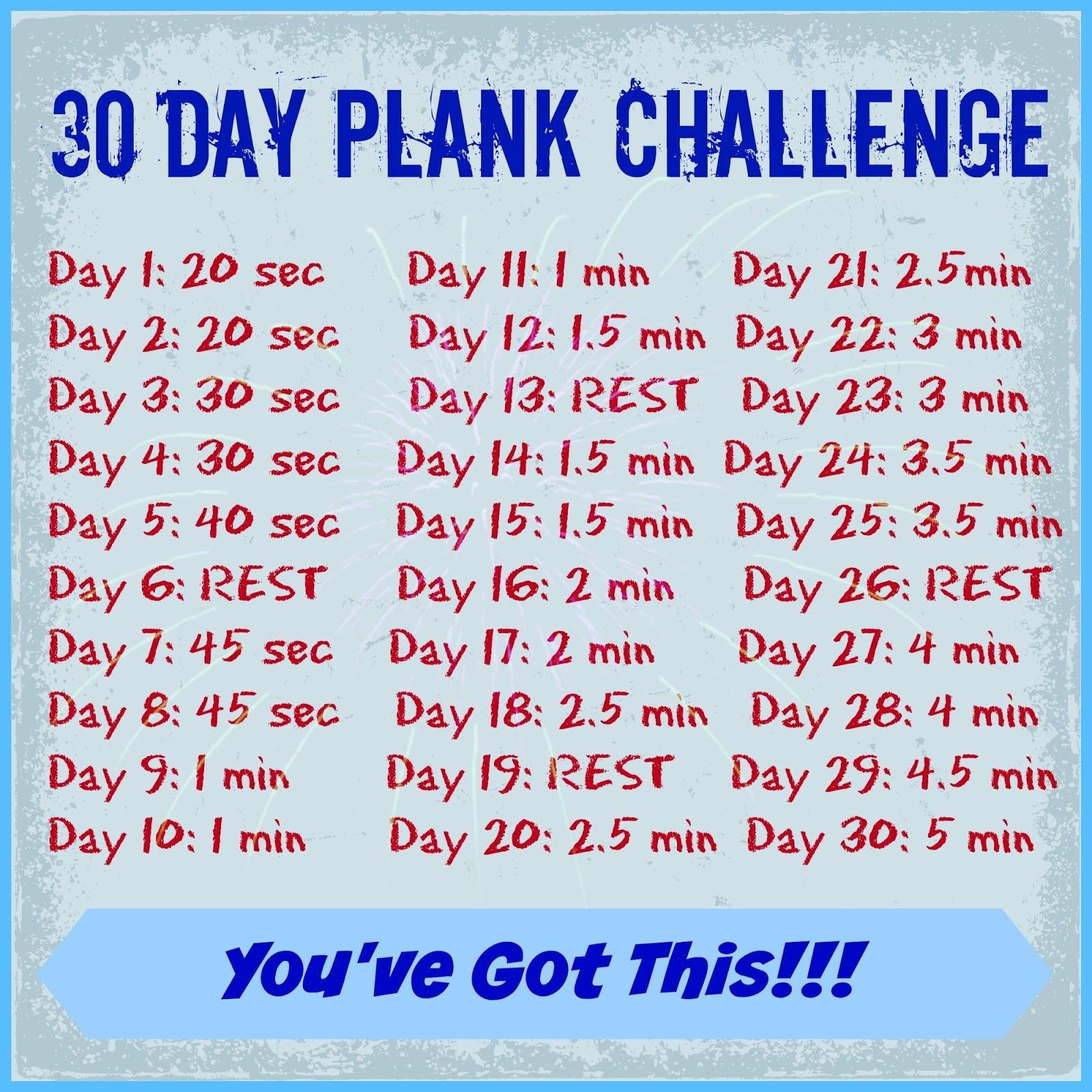 30 Day Plank Challenge!!!! Let'S Do This!!!! | 30 Day Printable 30 Day Plank Challenge