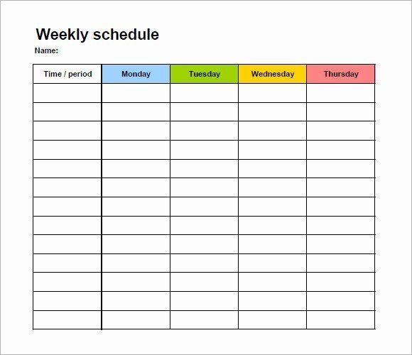30 Monday To Friday Schedule Template In 2020 | Schedule Sample Calendar Monday To Friday