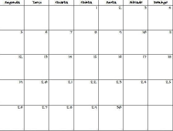 31 Day Calendar Template :-Free Calendar Template 31 Day Blank Calendar Printable