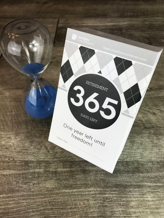 365-Day Countdown To Retirement Tear-Off Calendar 1 Year Free 365 Day Countdown Calendar Days