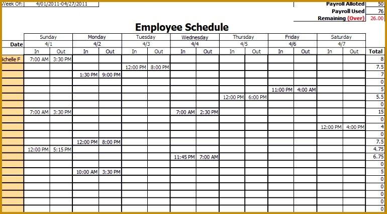 4 Employee Vacation Schedule Template | Fabtemplatez Hr Calendar And Sample