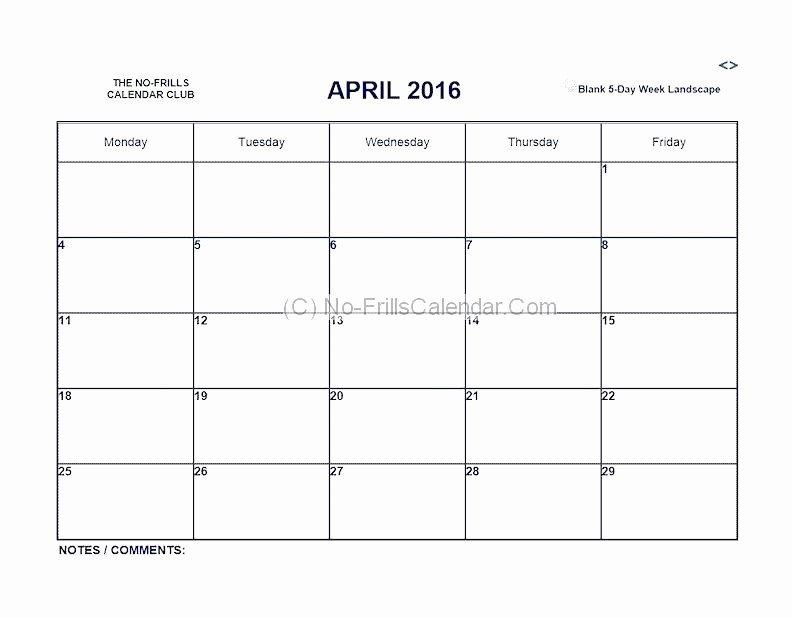 41 Monday Through Friday Hourly Calendar | Ufreeonline Meeting Templates Mon - Fri
