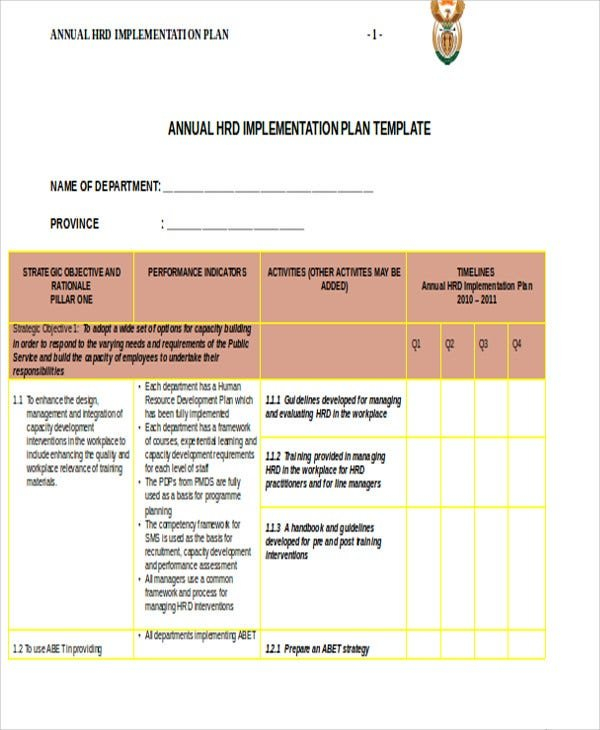 42+ Plan Templates In Word | Free & Premium Templates Hr Company Annual Calendar Template