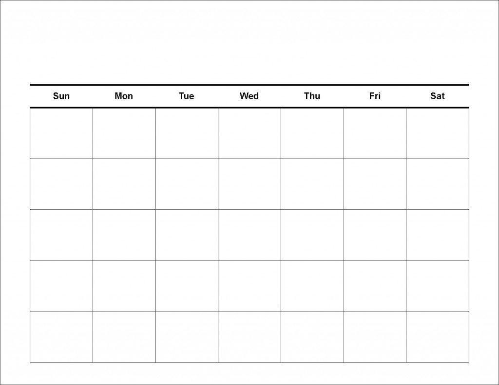 5 Day Blank Calendar   Calendar Template Printable Free 5 Day Calendar Template