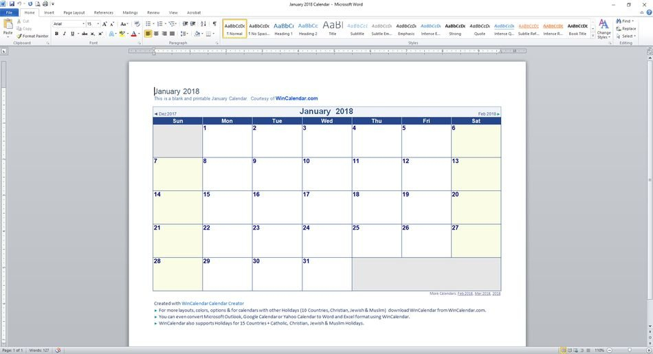 89 Free Calendar Templates For 2018 And Beyond Free Calendars To Download And Edit