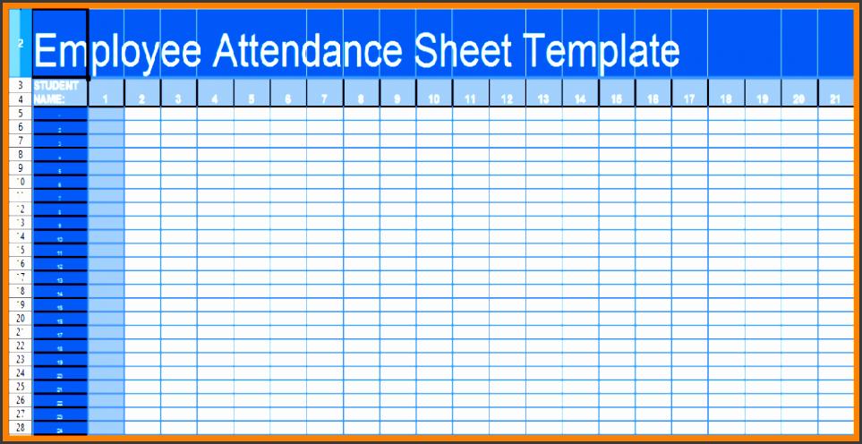 9 Employee Attendance Sheet Template - Sampletemplatess Hr Calendar And Sample