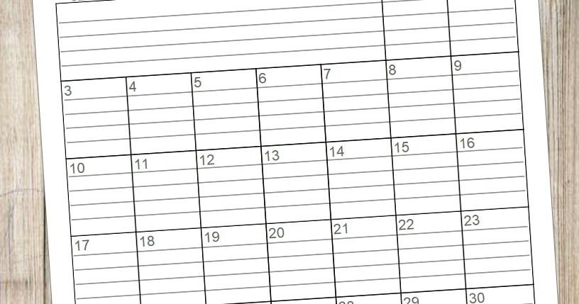 A Blog About Crafts, Holidays, Wood Projects, Calendars Free Lined Calendar Templates Printable