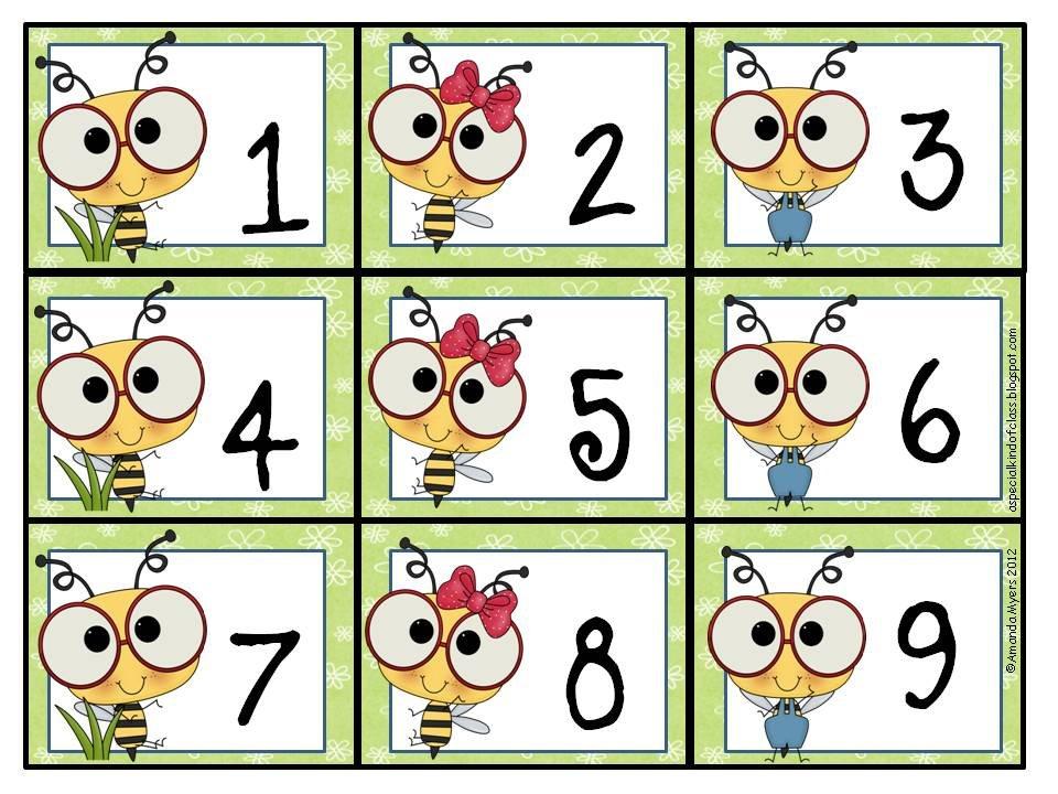 A Special Kind Of Class: Bee Calendar Numbers Freebie Printable Calendar Numbers 1 31