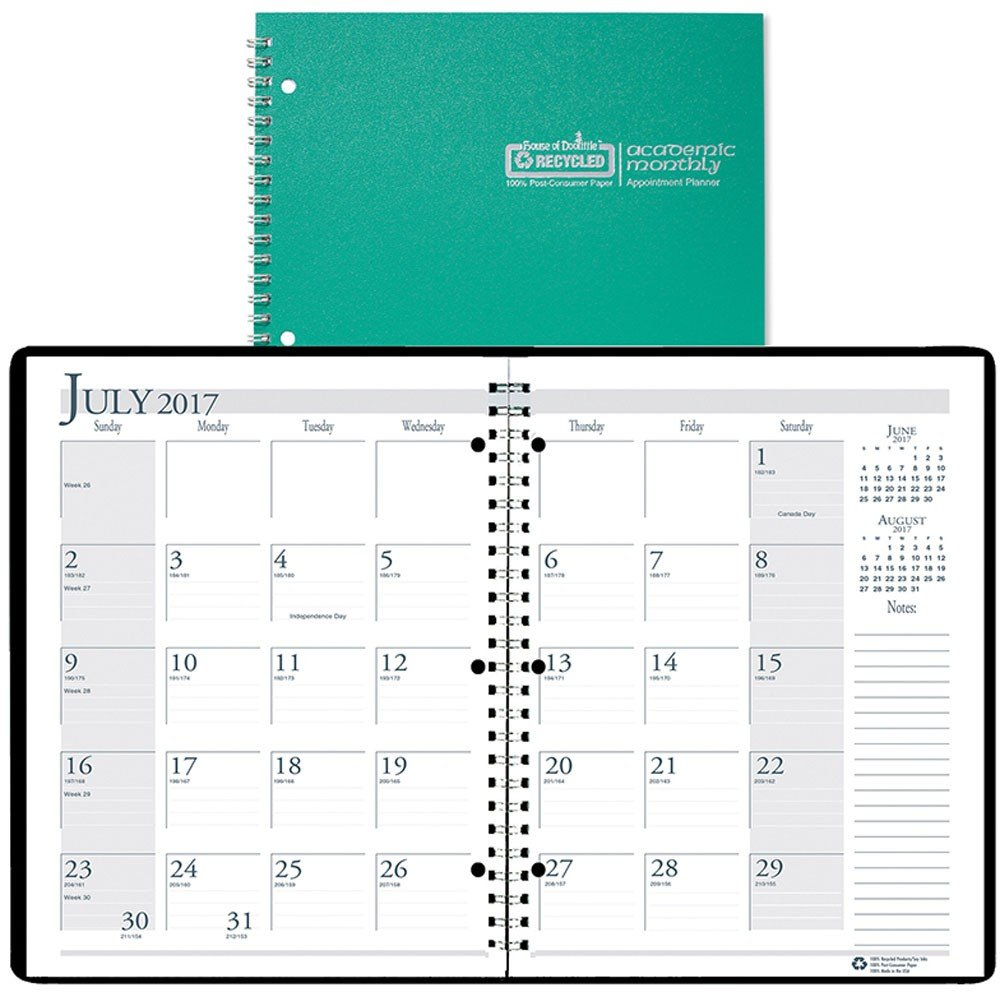 """Academic Monthly Planner, 8 1/2"""" X 11"""", Bright Green 5 1/2 By 8 1/2 Weekly Calendar Printable"""