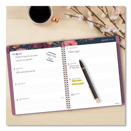Acco At-A-Glance Dark Romance Weekly/Monthly Planner | 11 Printable Calendar 8 1/2 X 5.5