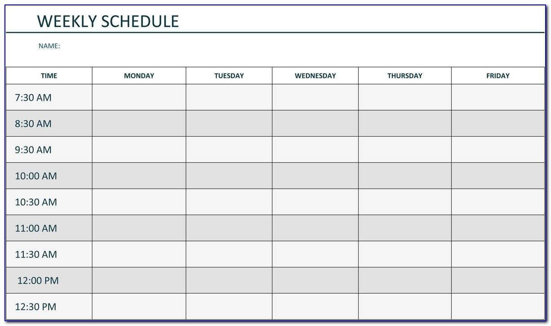 Agenda Monday To Friday   Ten Free Printable Calendar 2020 Monday Friday Schedule Printable