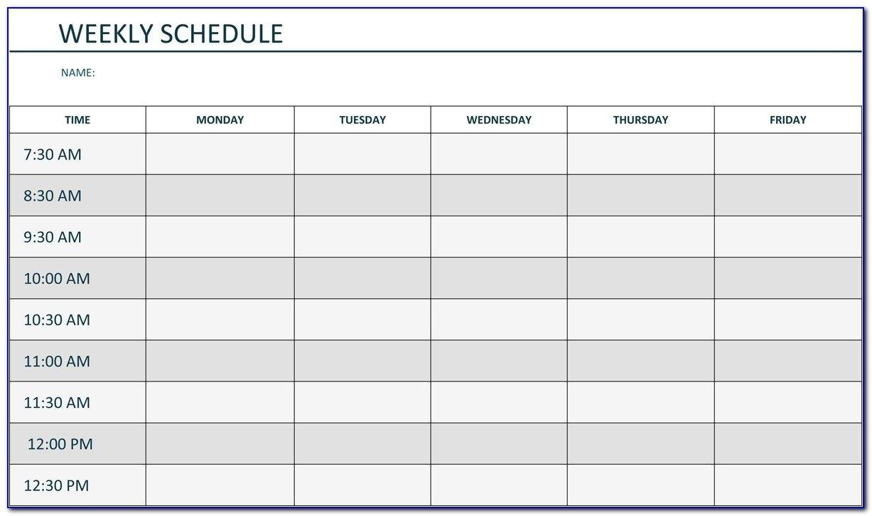 Agenda Monday To Friday | Ten Free Printable Calendar 2020 Sample Calendar Monday To Friday