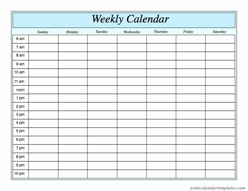 Agenda With Time Slots Luxury Free Printable Weekly Schedule For A Day With Time Slots
