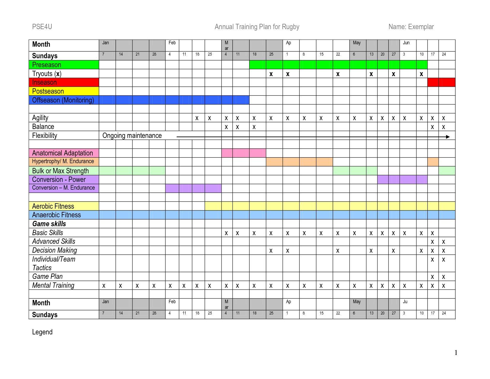 Annual Training Plan Template Excel - Printable Schedule Annual Hr Calendar Template