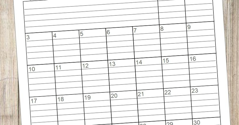 Beautifully Tarnished: Free 2020 {Lined} Monthly Calendars Blank Lined Calander Templates