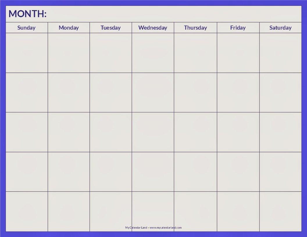 Blank Calendar 2013 - 2014 | 2016 Blank Calendar Weekly 2 Page Calendar